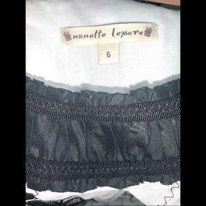 Nanette Lepore Tops - NANETTE LEPORE Black & White Sleeveless Tunic